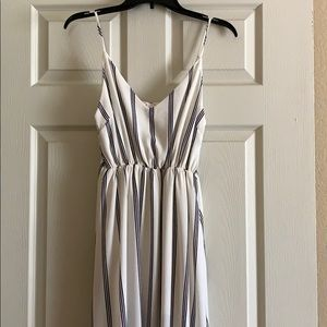 Maxi dress with short white dress underneath